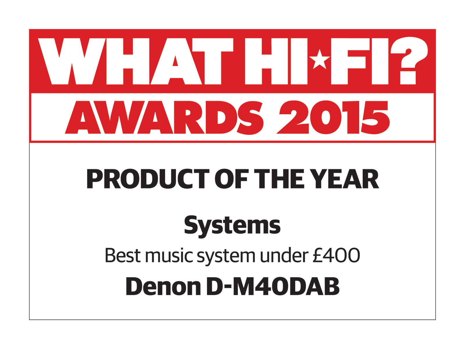 what hi fi dm40 product of the year 2015
