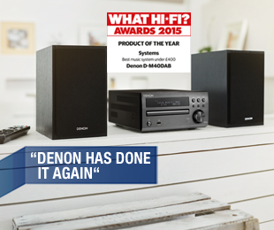 D-M40 wins What Hi Fi Product of the Year