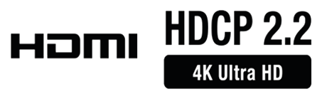 HDCP 2.2 4K Ultra HD compatible